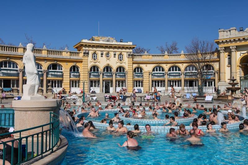 Szechenyi Spa in Boedapest stock afbeelding