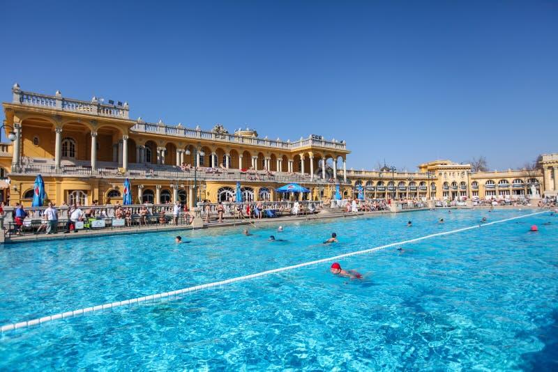 Szechenyi Spa in Boedapest royalty-vrije stock fotografie