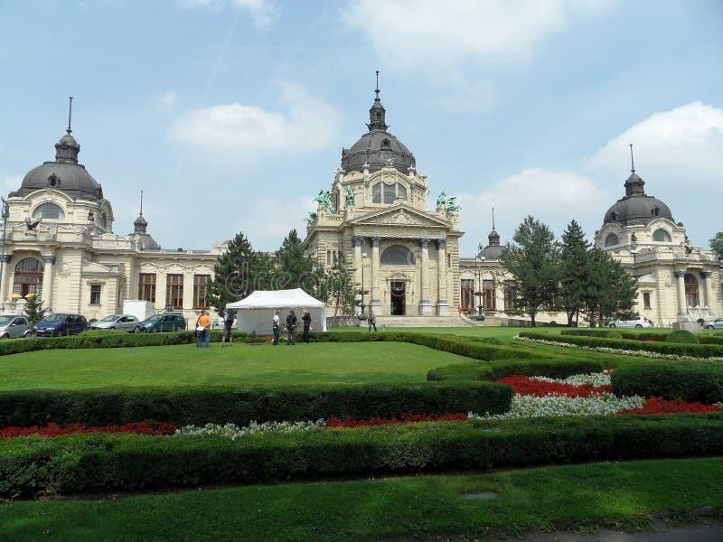 Szechenyi spa, Boedapest royalty-vrije stock afbeeldingen