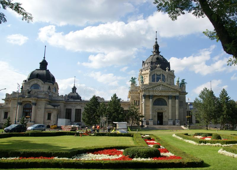 Szechenyibad in Boedapest royalty-vrije stock afbeeldingen