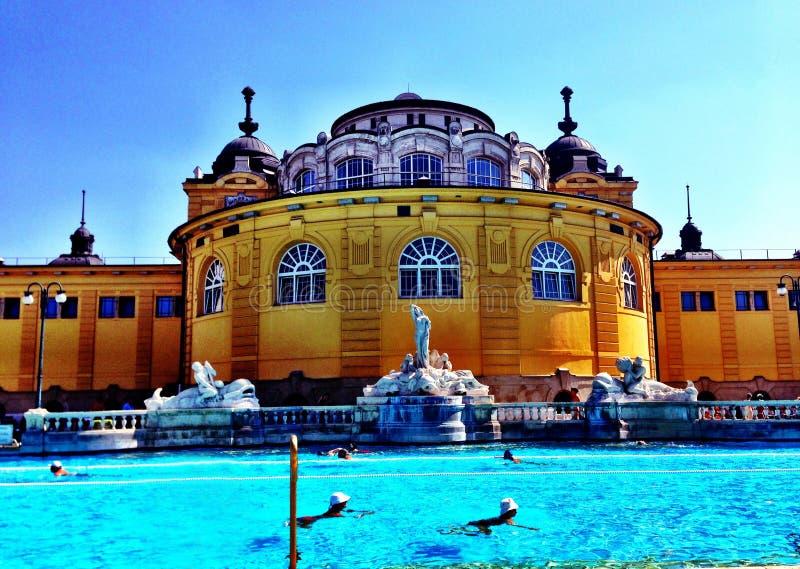 Szechenyibaden van Boedapest royalty-vrije stock foto's
