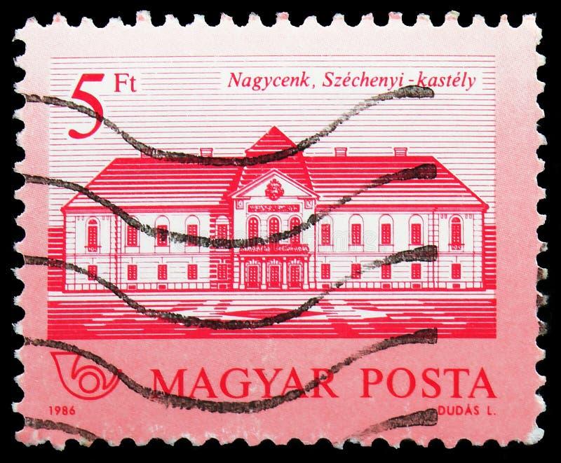 Szechenyikasteel, Nagycenk, Kastelen serie, circa 1986 royalty-vrije stock foto's