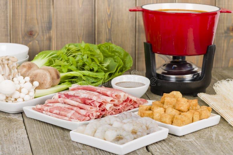 Szechuan热的罐 库存图片