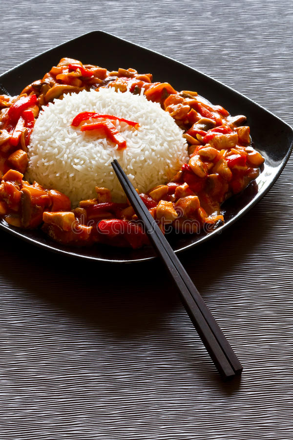 Download Szechuan Chicken And Rice Dish Stock Photo - Image: 21945280