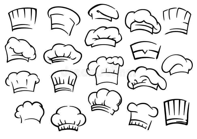 Szefów kuchni kapelusze i ilustracja wektor