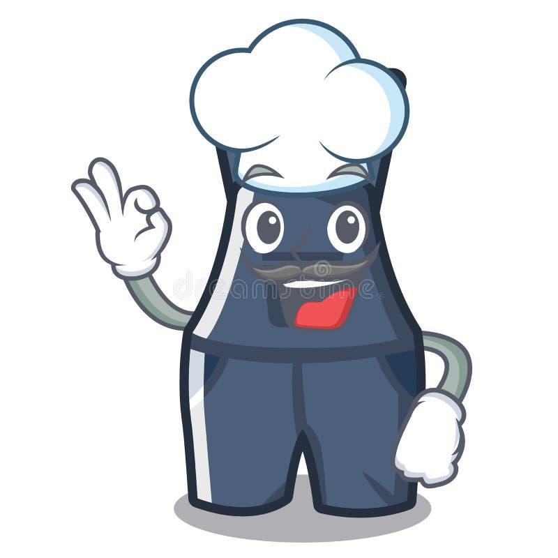 Szefów kuchni kombinezony w charakteru kształcie ilustracja wektor