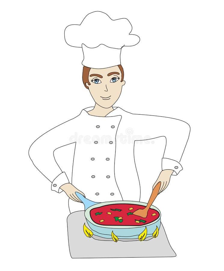 Szefów kuchni kucharzi royalty ilustracja