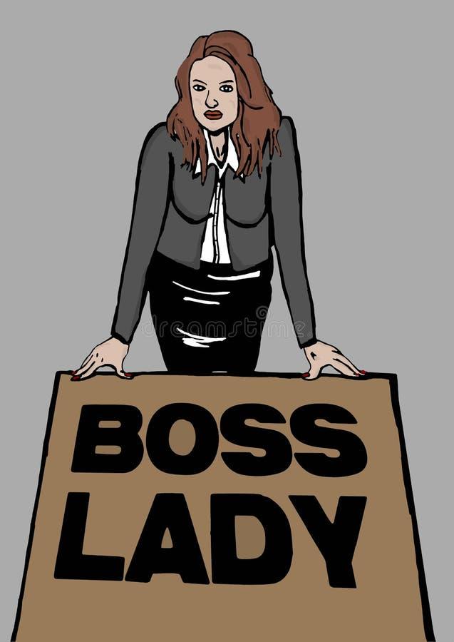 Szef dama royalty ilustracja