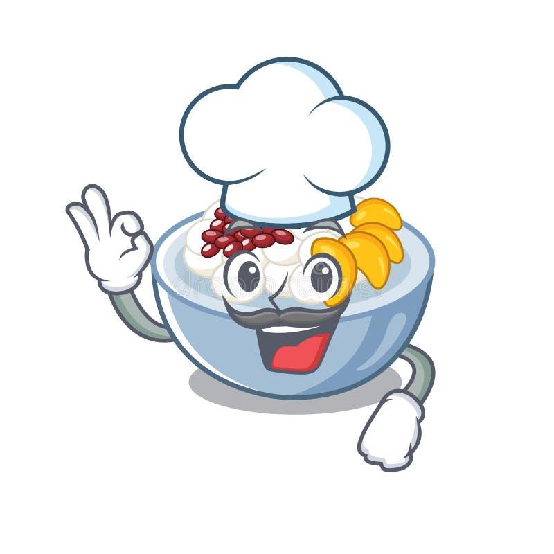 Szef kuchenny z kształtem znaku ilustracja wektor