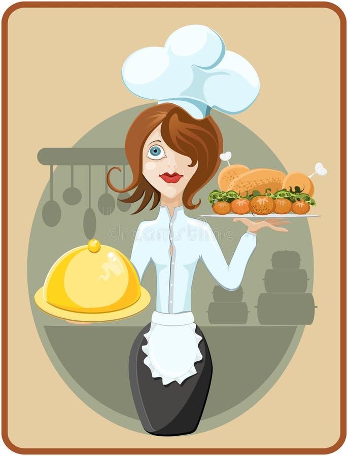 szef kuchni śliczny ilustracja wektor