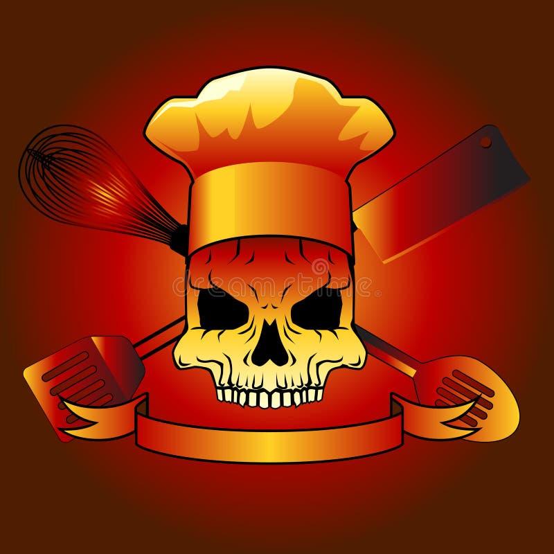szef kuchni śmierć ilustracji