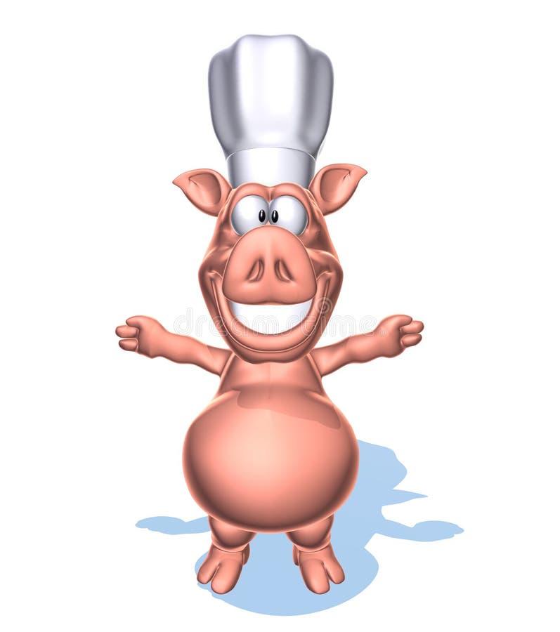 szef kuchni świnia ilustracji