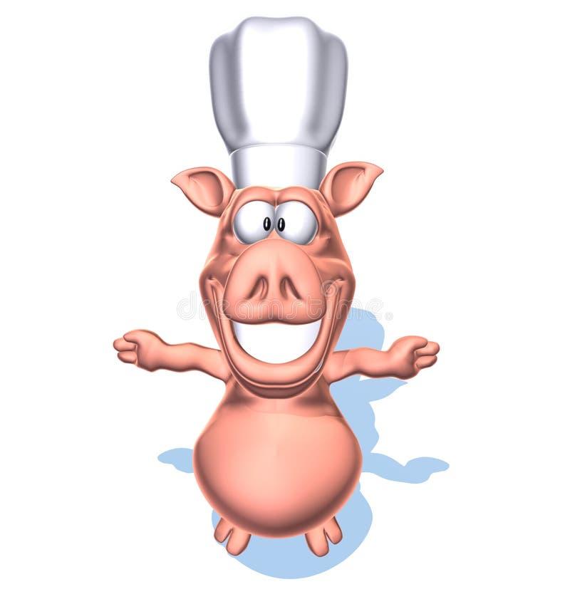 szef kuchni świnia ilustracja wektor