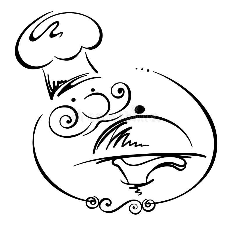 szef kuchni abstrakcjonistyczny wizerunek ilustracja wektor