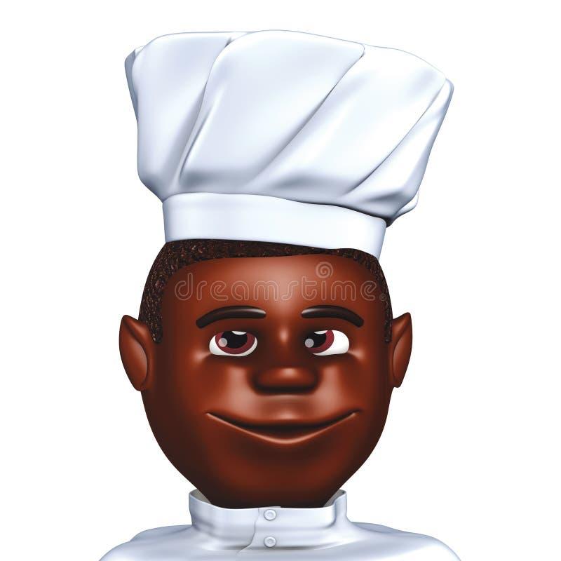 szef kuchni afrykański kucharz royalty ilustracja