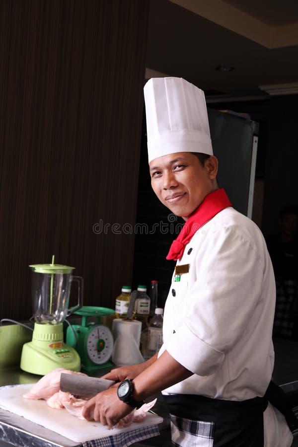 szef kuchni azjatykci senior obraz royalty free