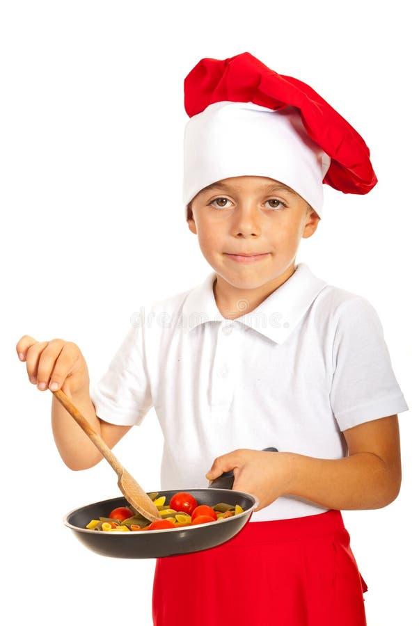 Szef kuchni chłopiec zdjęcie royalty free