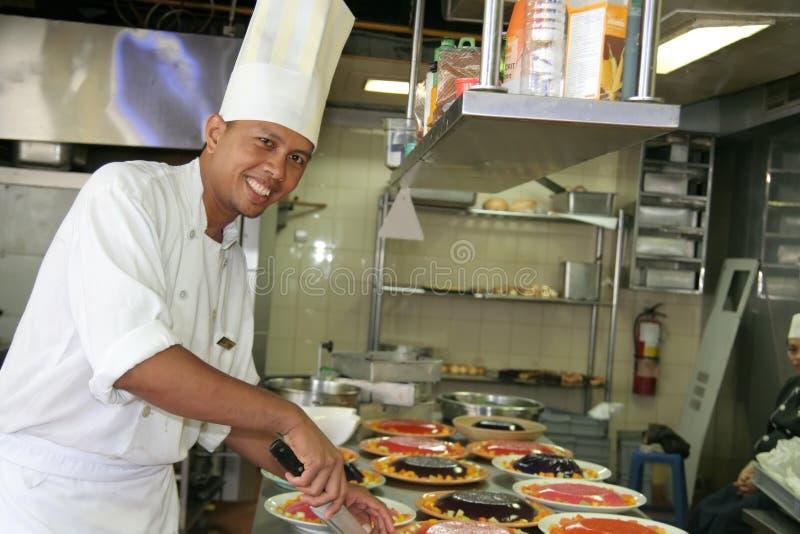 szef kuchni ciasta obrazy stock