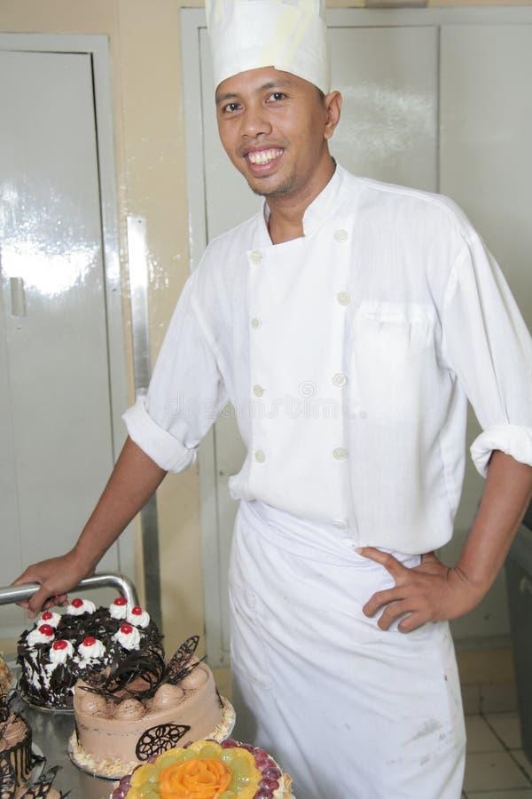 szef kuchni ciasta zdjęcie stock