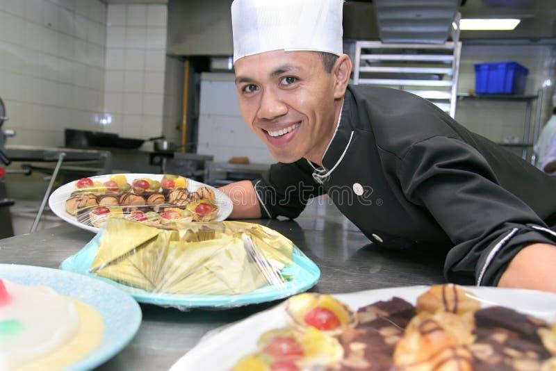 szef kuchni ciasta praca zdjęcie stock