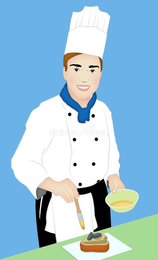 szef kuchni ciasto ilustracji