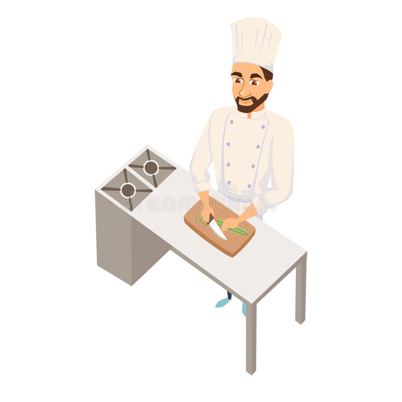 Szef kuchni ciie sałatki royalty ilustracja