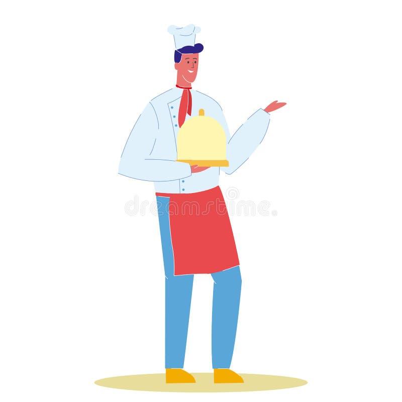 Szef kuchni Cook z P??kow? kresk?wka wektoru ilustracj? ilustracja wektor