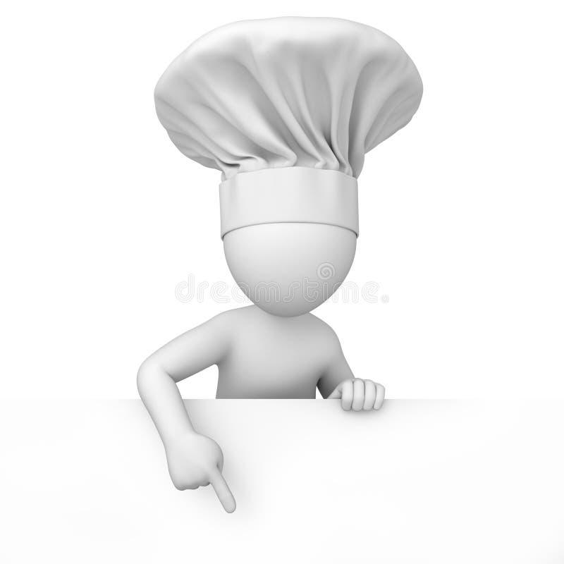 Szef kuchni. 3d wizerunek royalty ilustracja