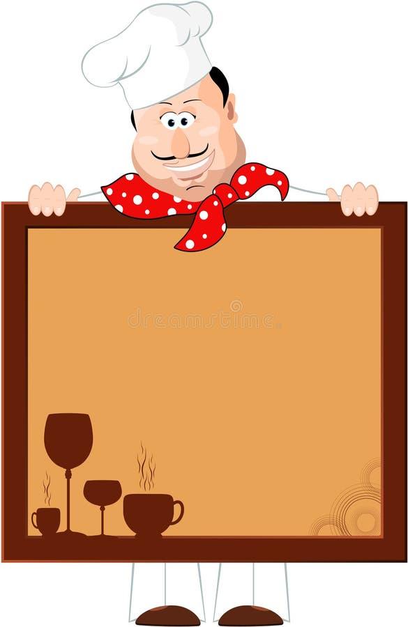szef kuchni deskowy menu ilustracja wektor