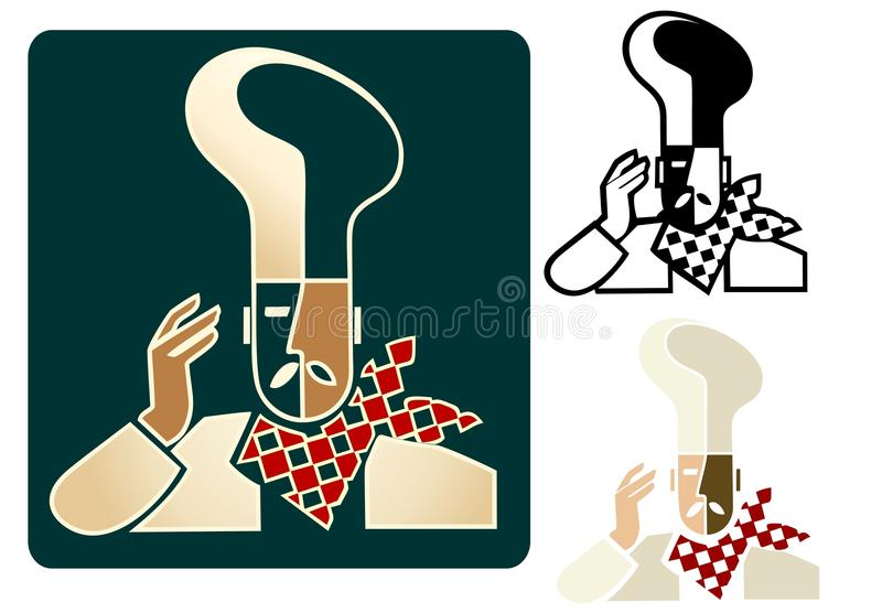 szef kuchni Du Logo ilustracja wektor