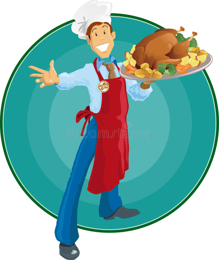 szef kuchni dziękczynienie royalty ilustracja