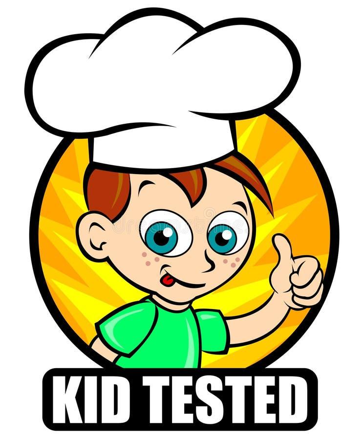 szef kuchni dzieciaka foki testowana wersja ilustracji