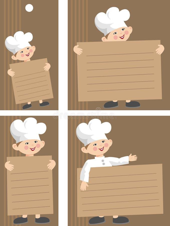 szef kuchni etykietka ilustracji