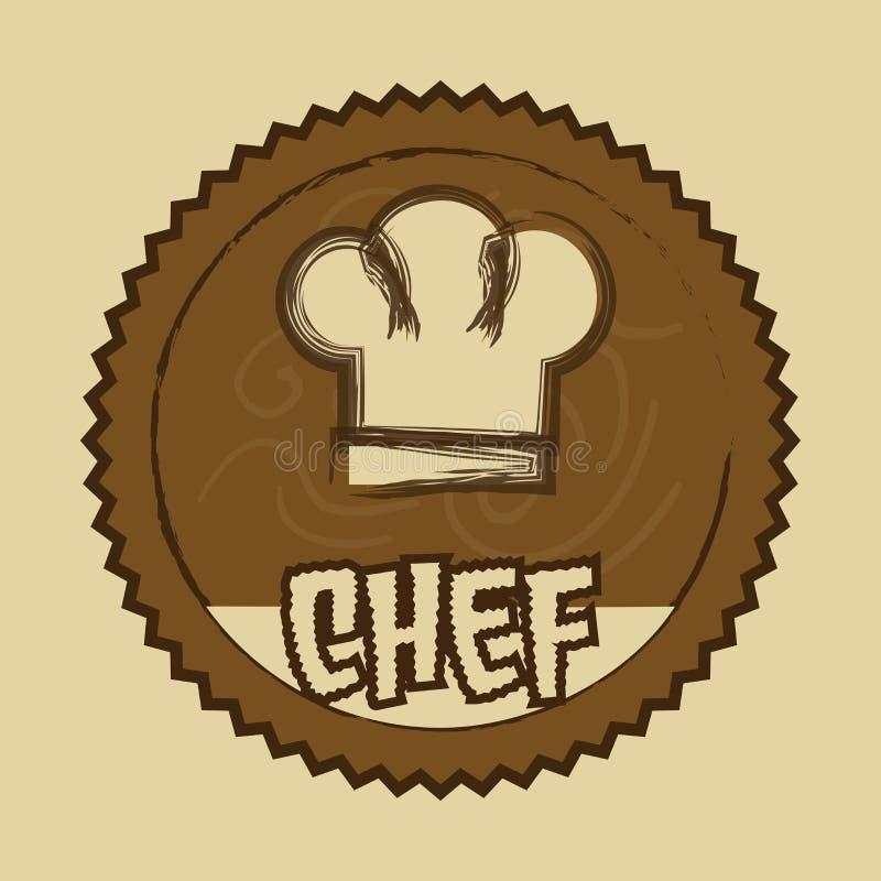 Szef kuchni etykietka royalty ilustracja