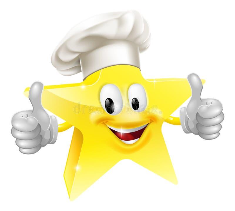 Szef kuchni gwiazdowa maskotka ilustracji