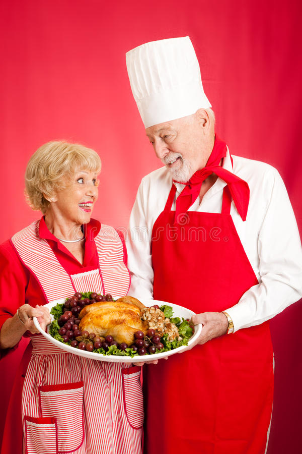 Szef kuchni i Homemaker z Wakacyjnym Gość restauracji obraz royalty free