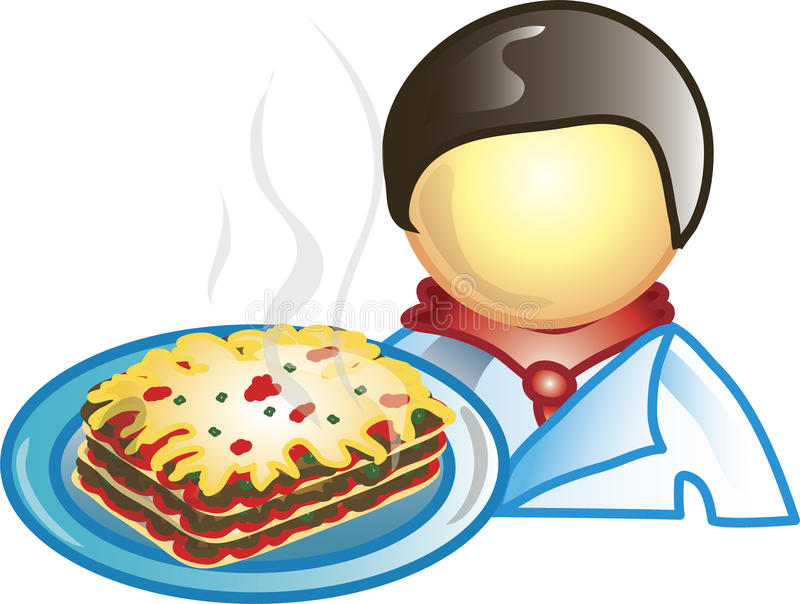 szef kuchni ikona ilustracji