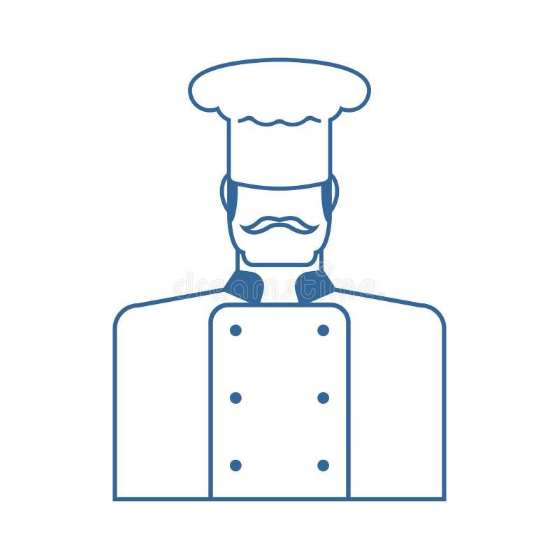 szef kuchni ikony ilustraci wektor cuisinier znak kuchenka symbol Wektorowy illustrat ilustracji