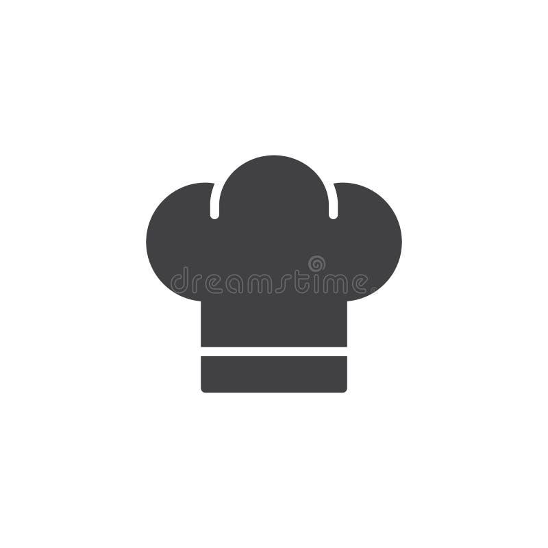 Szef kuchni ikony kapeluszowy wektor royalty ilustracja