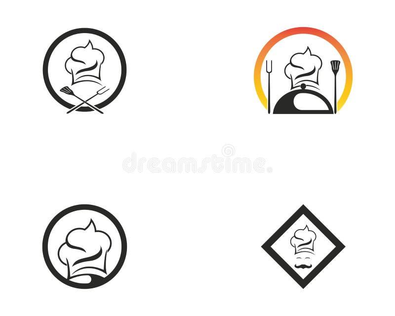 Szef kuchni ikony logo projekta wektor royalty ilustracja