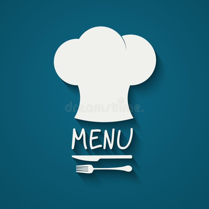 Szef kuchni ikony projekt royalty ilustracja