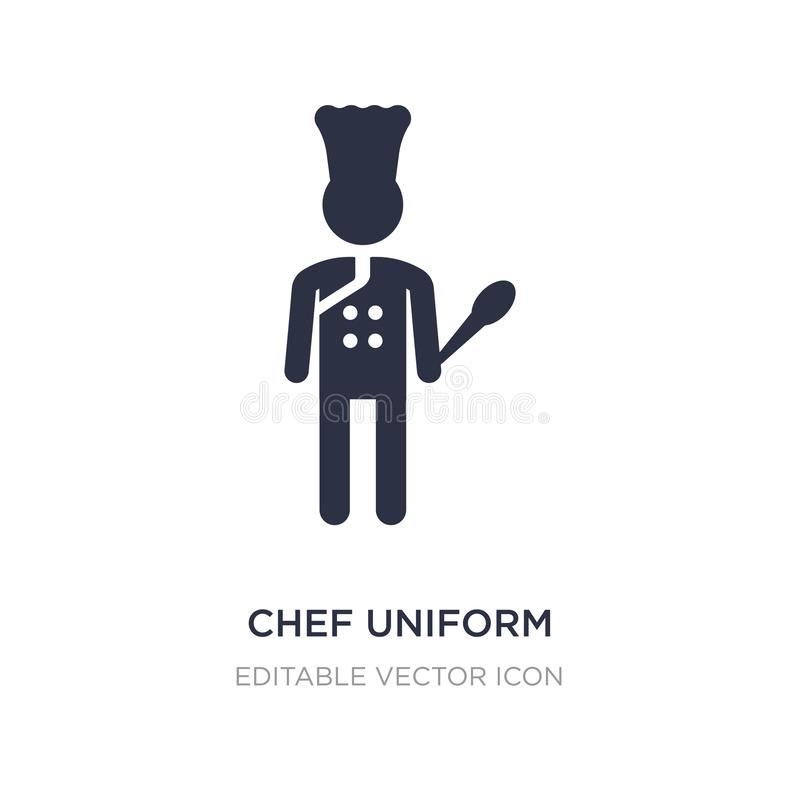 szef kuchni jednolita ikona na białym tle Prosta element ilustracja od ludzi pojęć ilustracji