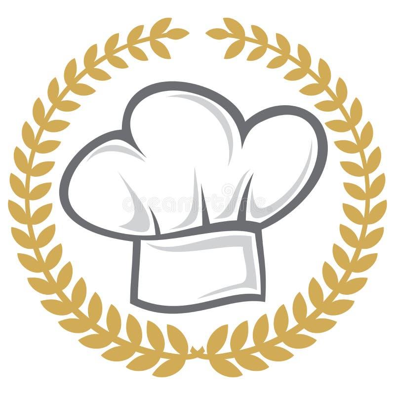szef kuchni kapelusz royalty ilustracja