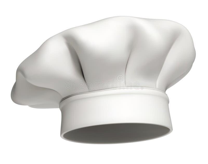 szef kuchni kapeluszowa ikona odizolowywający wektor royalty ilustracja