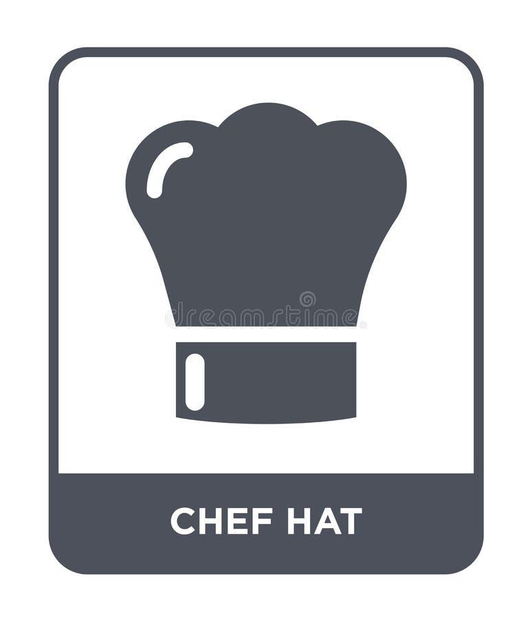 szef kuchni kapeluszowa ikona w modnym projekta stylu Szef kuchni kapeluszowa ikona odizolowywająca na białym tle szef kuchni kap royalty ilustracja