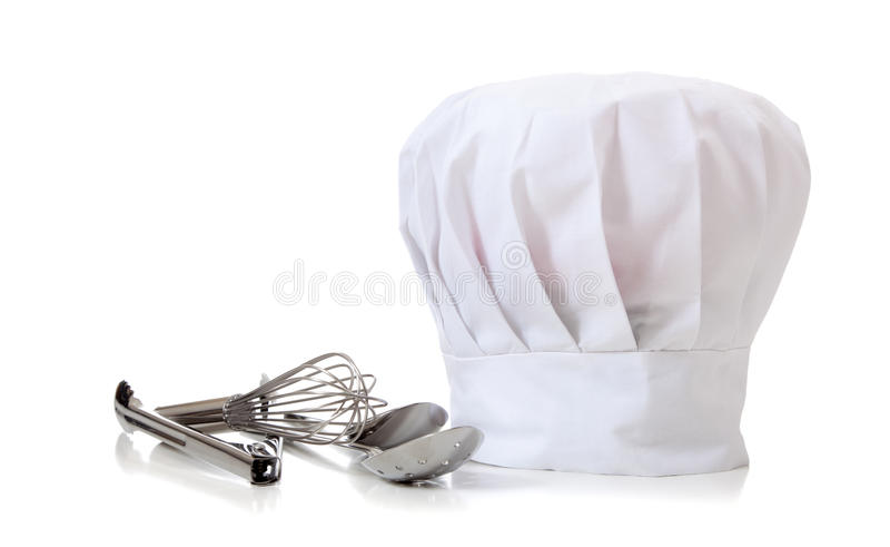 szef kuchni kapeluszu naczynia obrazy royalty free