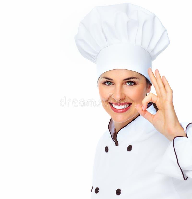 Szef kuchni kobieta. fotografia stock