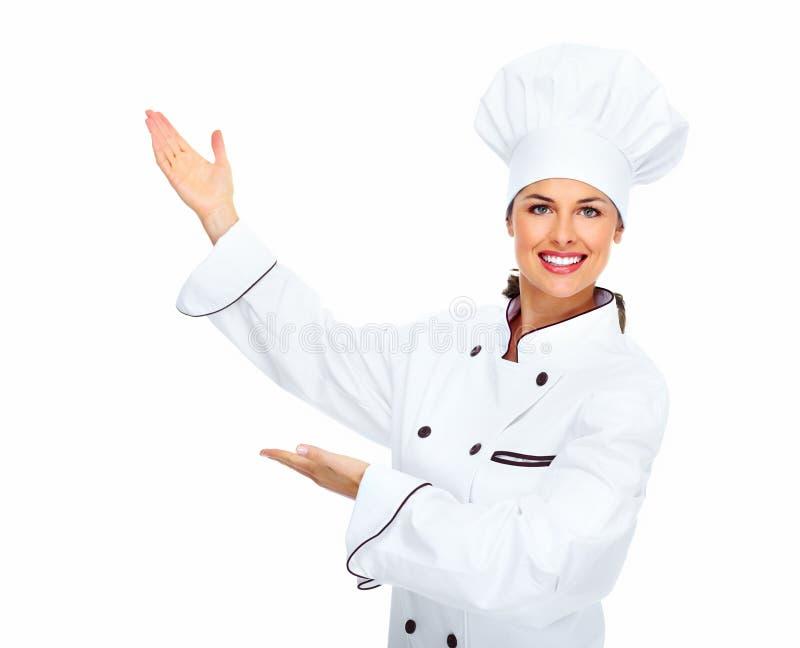 Szef kuchni kobieta. obrazy stock