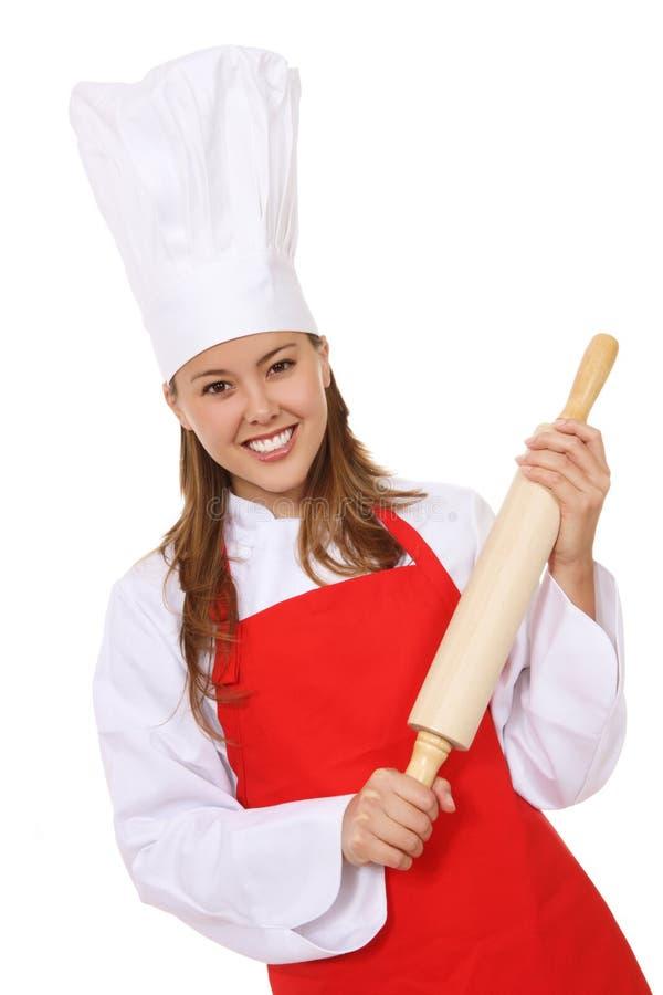 szef kuchni kobiety potomstwa zdjęcia stock