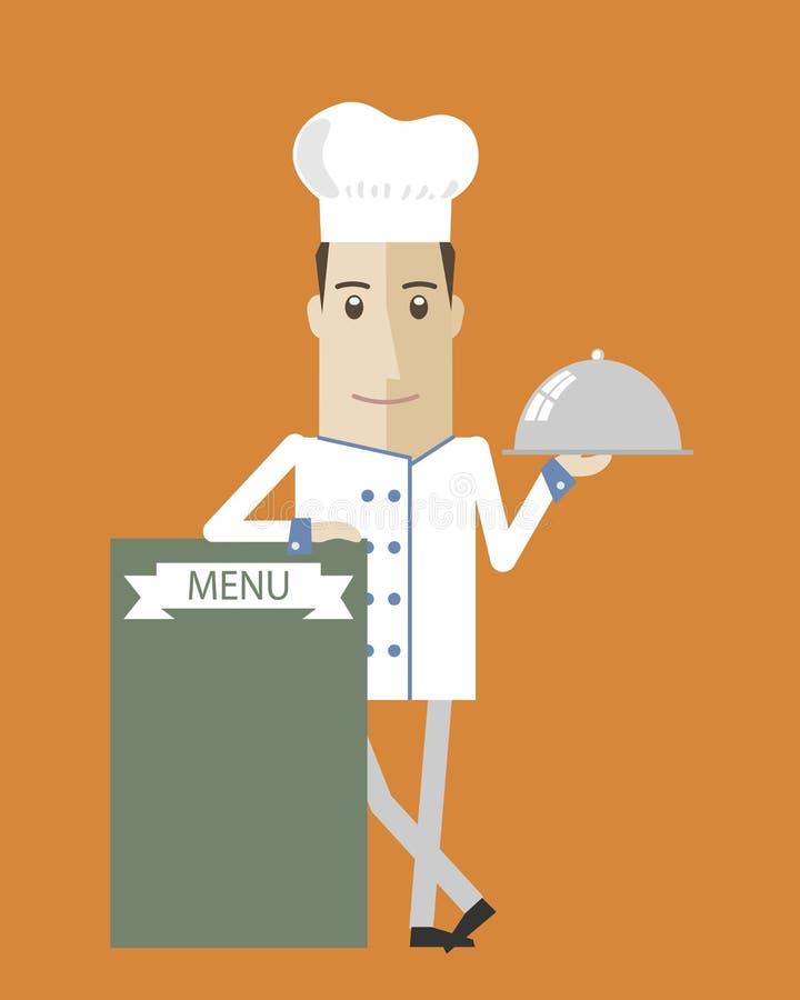 Szef kuchni kreskówka ilustracja wektor